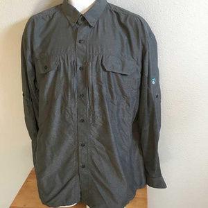 Kuhl gray nylon/poly shirt w vented back XXL